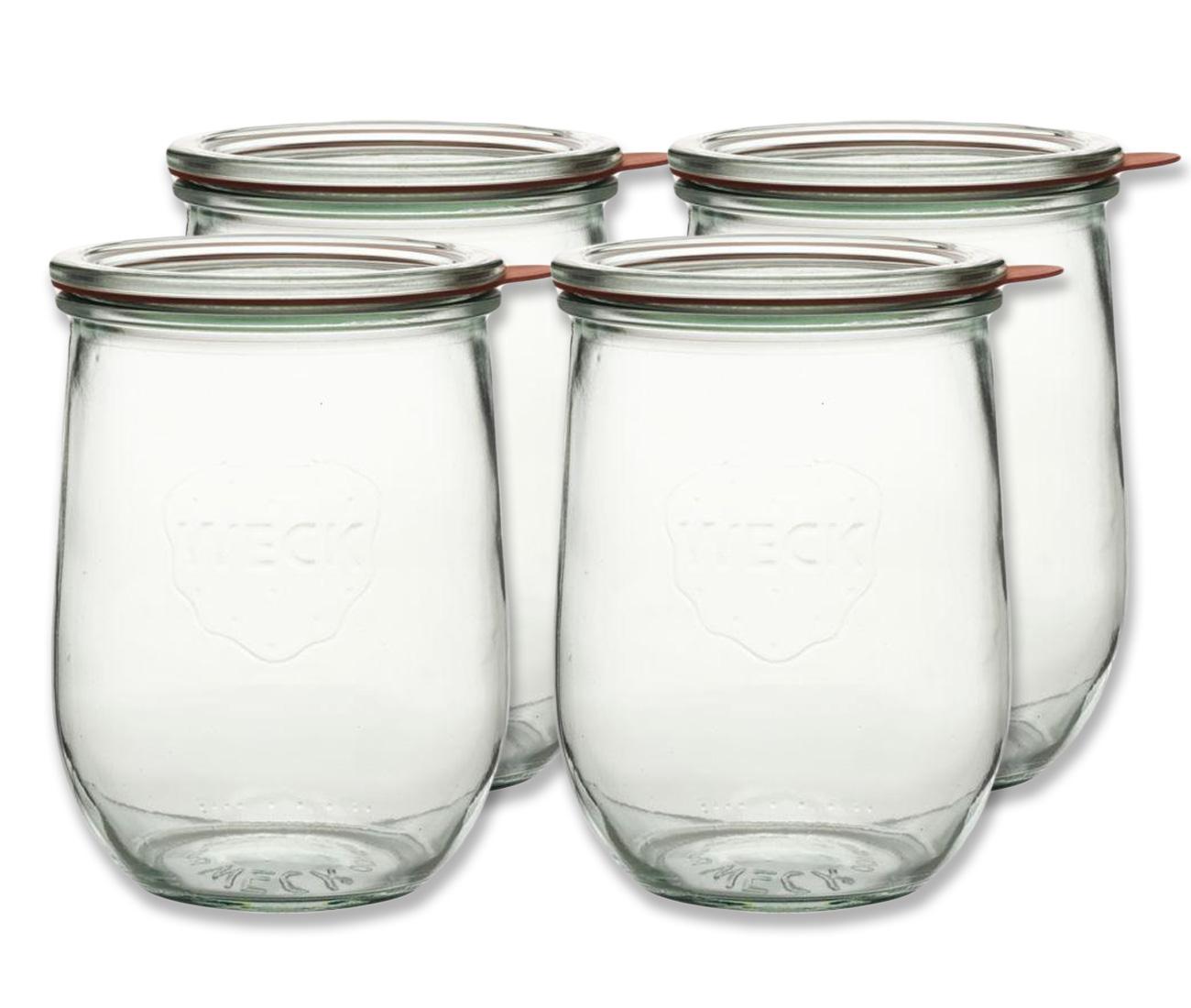 einkochglas mit deckel 1 lt 4 teilig einmachgl ser einkochen einmachen kadashop. Black Bedroom Furniture Sets. Home Design Ideas